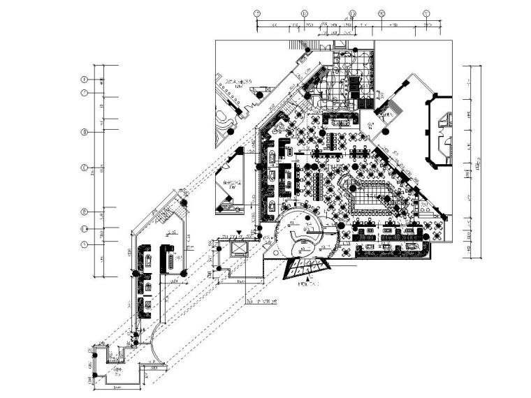 混搭风格休闲酒吧内部装修全套CAD施工图