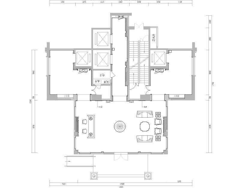 [福建]欧式风格名城电梯厅设计施工图+效果图