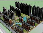 建筑体块模型设计(su模型)