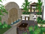 精致庭院模型设计