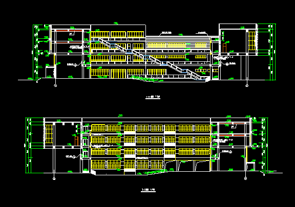 三层现代风格某小学方案(总平面)