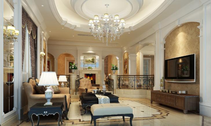 300平独栋欧式风格别墅室内设计施工图_7