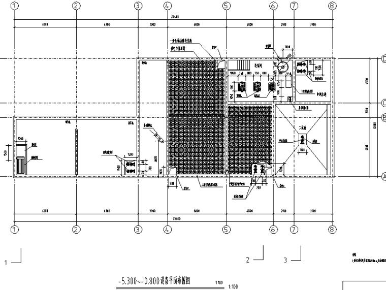 沈阳市某医院污水处理及回用图纸(CAD)