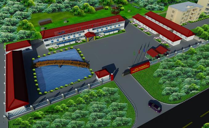低山丘陵区13km双向四车道高速公路工程实施性施工组织设计213页(路桥隧涵)-项目经理部建设效果图