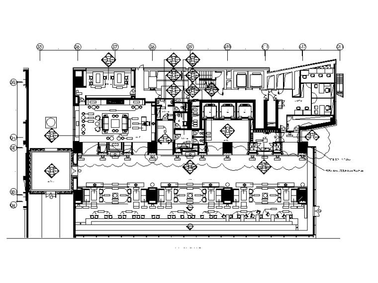 [江苏]某酒店装修CAD设计施工图(含效果图和实景图)
