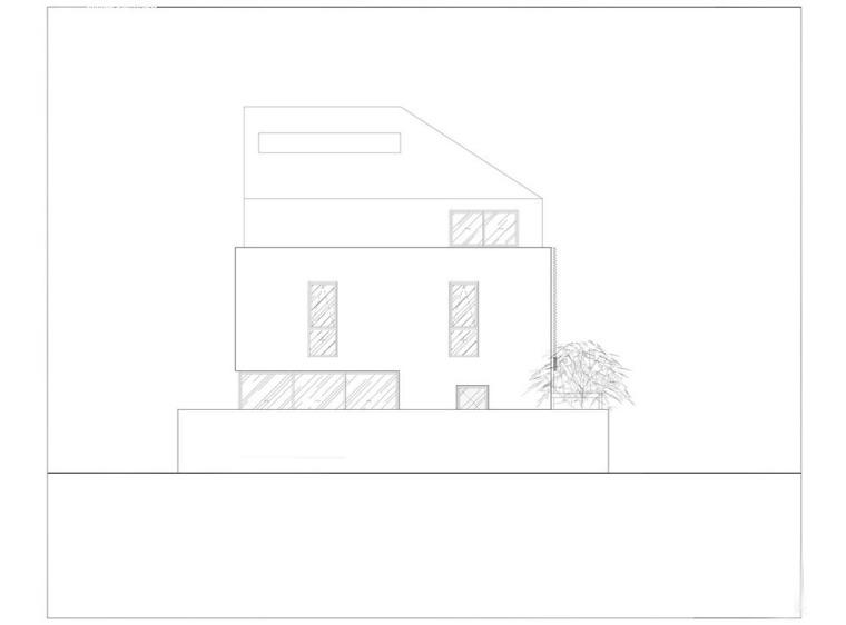 越南胡志明白色方块住宅-25