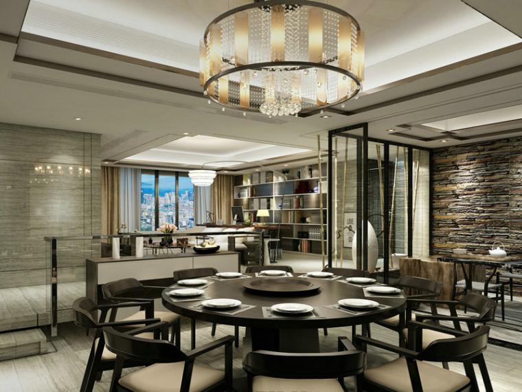 时尚餐厅3D模型下载