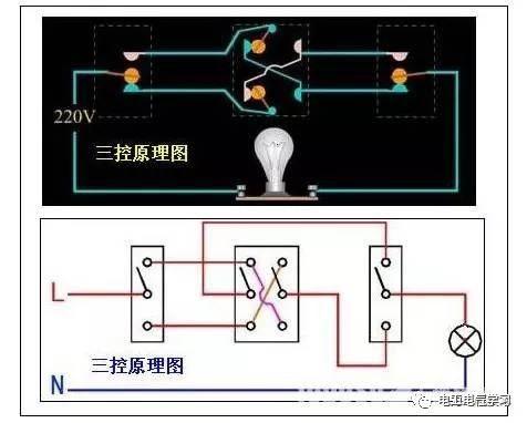 【电工必备】开关照明电机断路器接线图大全非常值得收藏!_14