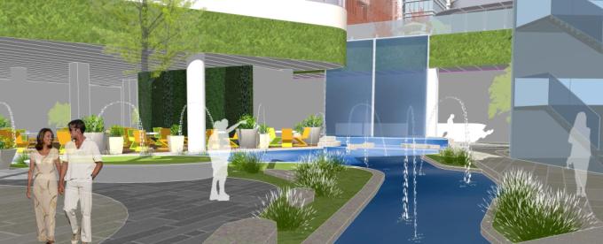 [上海]生态立体溪谷绿化商业街区景观规划设计方案