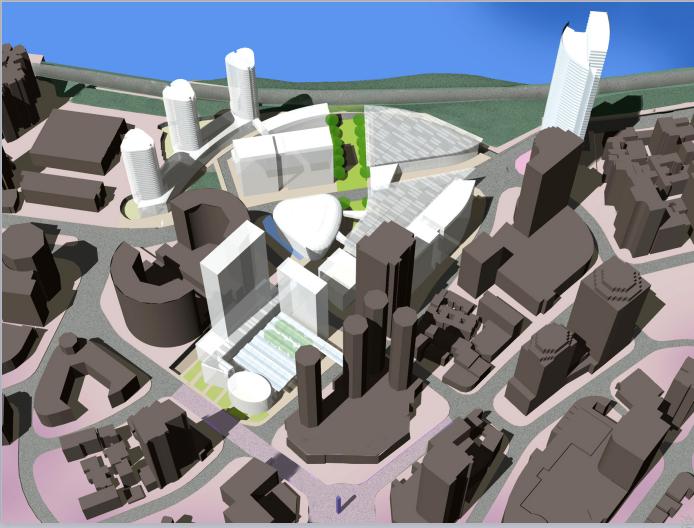 重庆渝中半岛城市规划建筑设计方案文本(竞赛作品)
