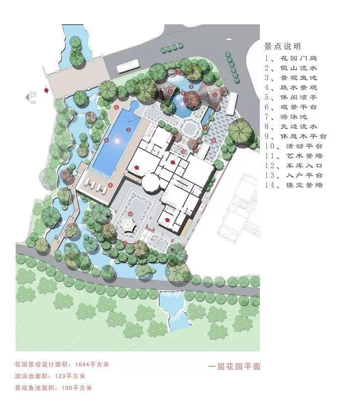 高端住宅别墅花园设计