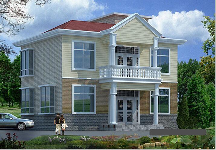 二层别墅建筑方案设计(包含CAD)