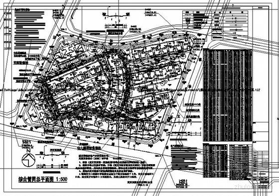 重庆某小区综合管网总平面图