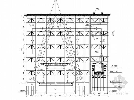 独缆地锚式悬索桥主塔施工方案(节点详细)