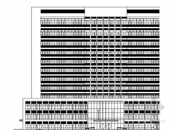 [四川]12层现代风格县级人民医院灾后重建建筑施工图(知名设计院)