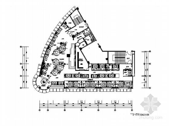 [福建]设计感十足的西式咖啡厅室内施工图