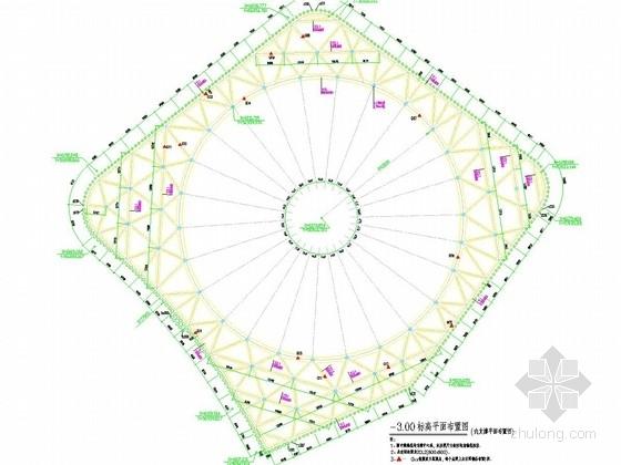 [福建]13米深基坑桩撑及预应力锚杆支护施工图