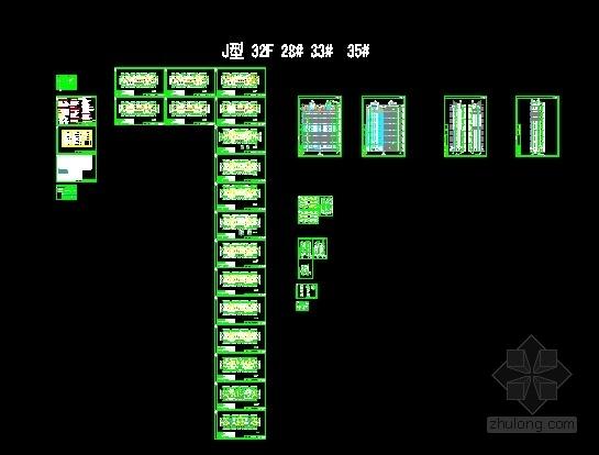 [安徽]Artdeco风格三十二住宅安置区建筑施工图(画图精细推荐参考)-缩略图