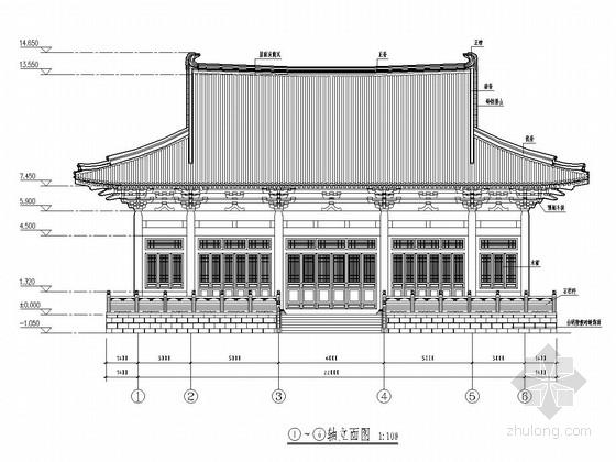 古建天王殿建筑结构全套施工图