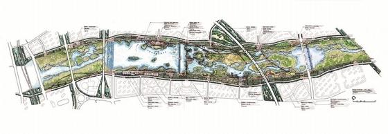 [西安]城市绿肺宜居新地滨水湿地公园景观规划设计方案