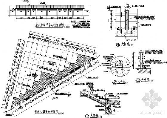 木制亲水平台施工图-2