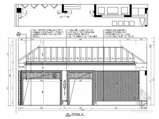 [武汉]中式风格两层售楼处室内装修图(含效果)大堂立面