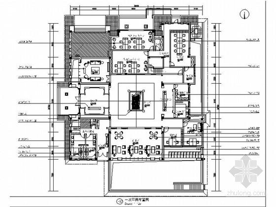 [浙江]豪华现代中式风格售楼处室内装修施工图(含高清实景图)