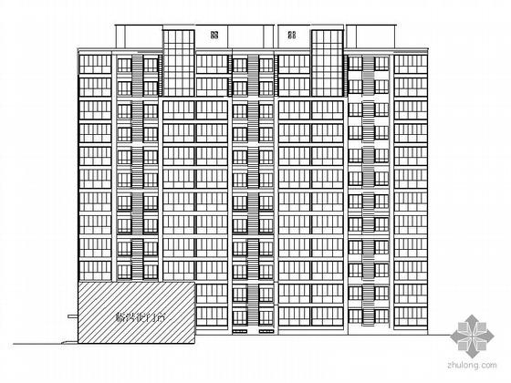 [邢台]某十一层底商住宅建筑施工图