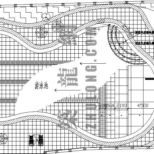 湖南某小区园林景观设计施工图