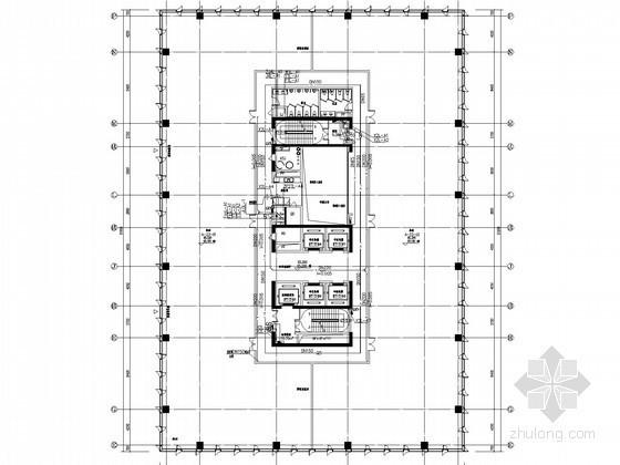 [广东]10万平办公楼给排水消防施工图(大空间智能灭火 气体灭火)