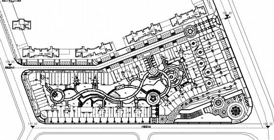 [福建]住宅区商业街园林景观工程施工图