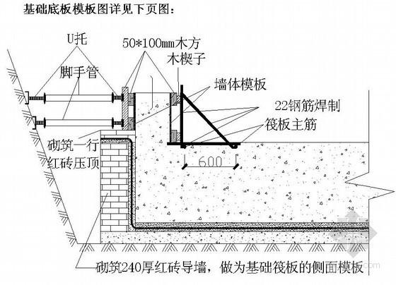 [辽宁]商业广场地下室模板施工方案(节点详图)