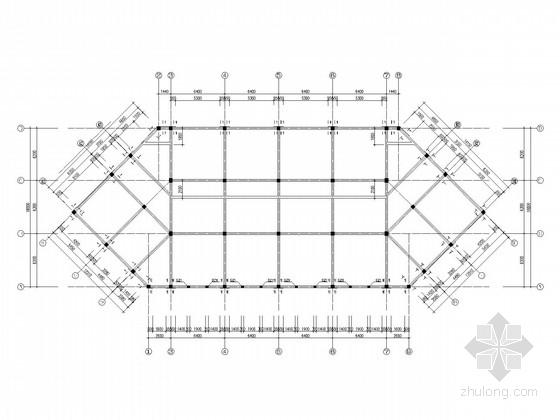 小区两层商业网点框架结构施工图