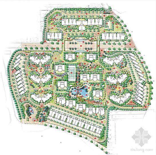 长沙现代简约风格小区景观设计文本