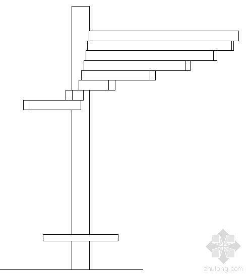 扇形凉亭施工图