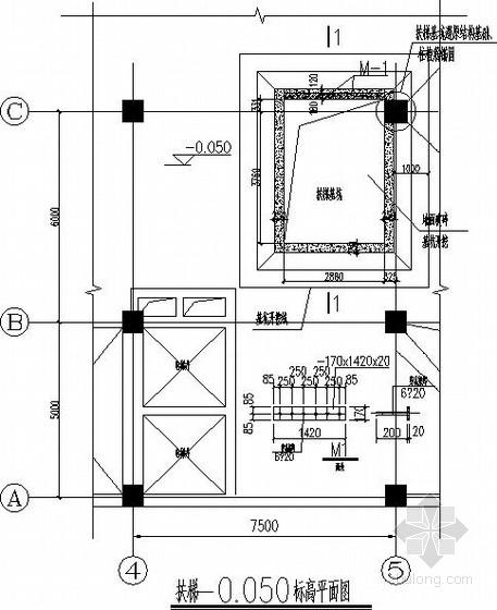 新增扶梯改造加固结构施工图
