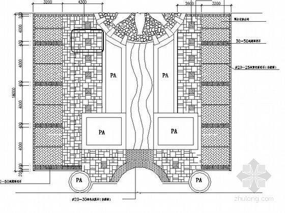 居住区入口区域园建施工图