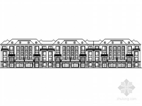 [江苏]某小区四层新古典风格花园洋房建筑施工图