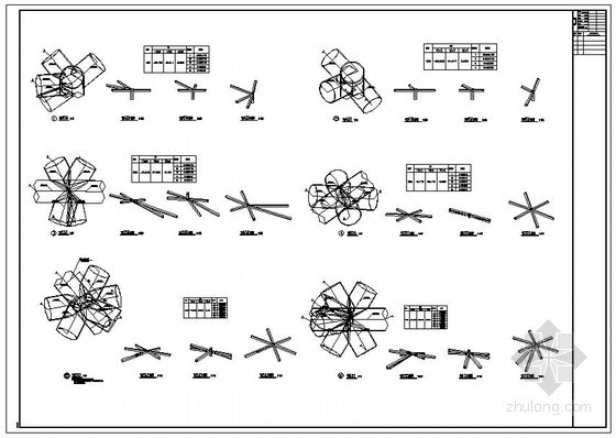 某空间网架螺栓球连接节点构造详图