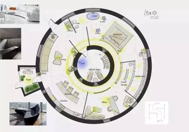 深度解析!一个圆形户型的15个高超方案!_18