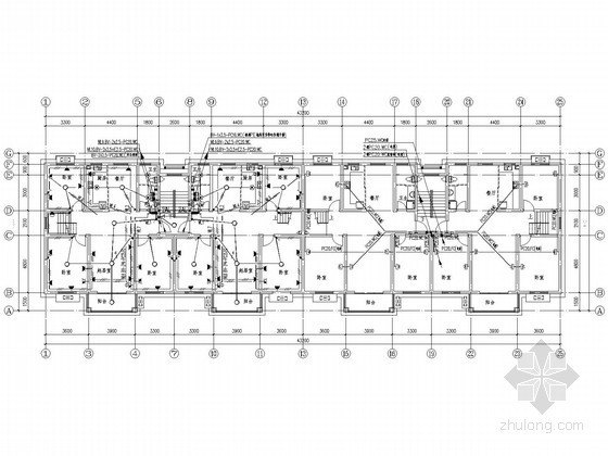 新农村五层住宅楼电气施工图