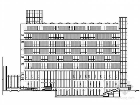[上海]某知名高校七层教学楼扩建施工图