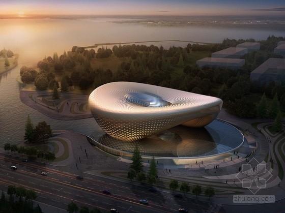 [陕西]现代风格大型展览馆方案文本(含CAD)