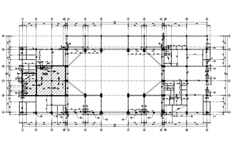 铁路关岭站钢框架站房结构施工图(CAD、15张)