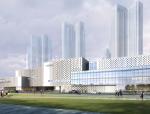 [湖南]五层玻璃幕墙立面文化及市民活动中心施工图(含效果图)