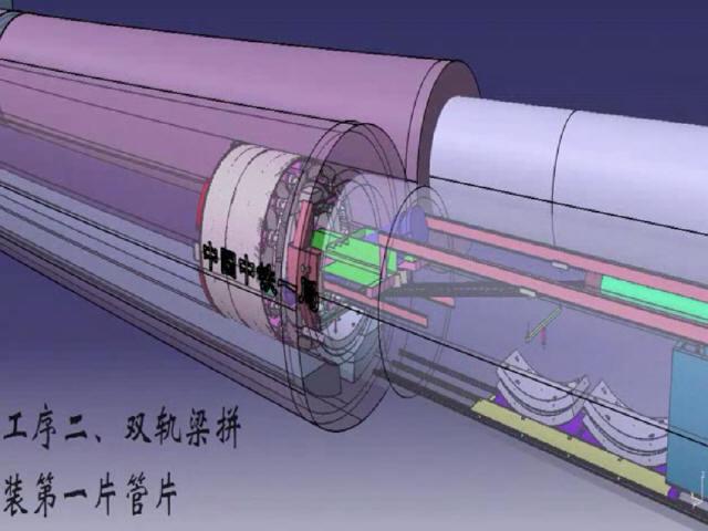盾构施工空推过暗挖通道工艺三维动画演示(BIM)