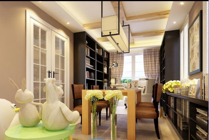 上海项目简美别墅住宅室内装修设计施工图及效果图