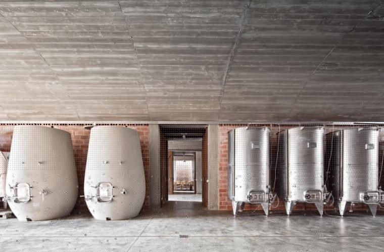 西班牙双曲线拱门形式Mont-Ras酒庄内部实景图 (3)