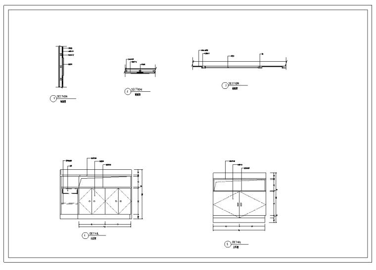 某大学餐厅室内装修设计全套施工图纸(28张)