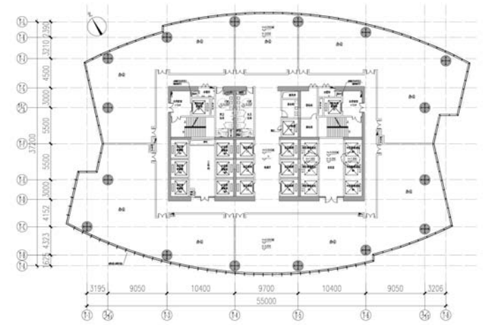 某8度区超高层办公楼结构敏感性分析